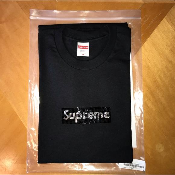 63c49e5d Supreme Shirts | Swarovski X Anniversary Box Logo Tshirt | Poshmark